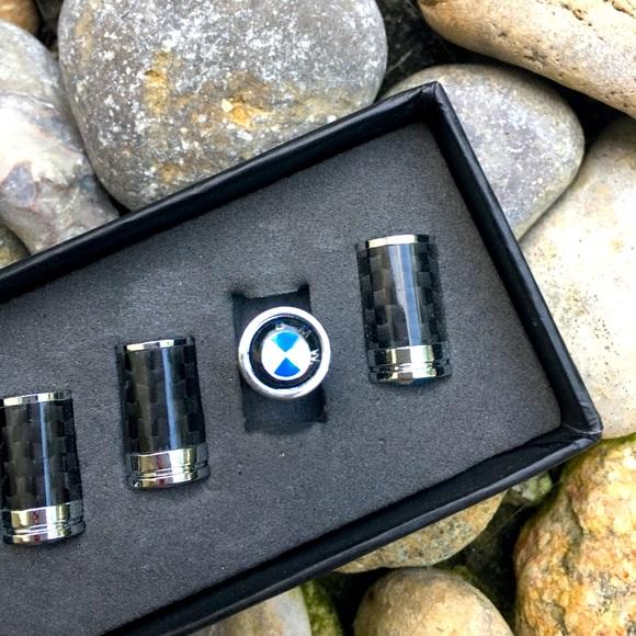 BMW Valve Stem Caps for Tires Round Logo
